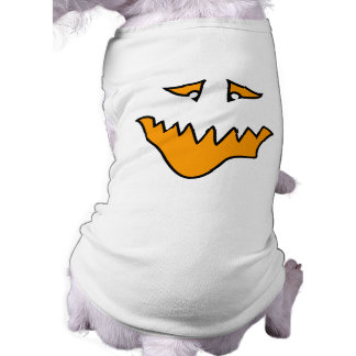 Scary Face. Orange Monster Grin. Pet Clothing