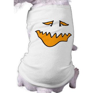 Scary Face. Orange Monster Grin. Pet T Shirt