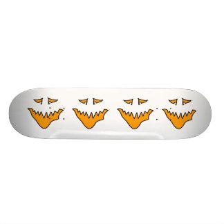Scary Face. Orange Monster Grin. Skateboard Decks