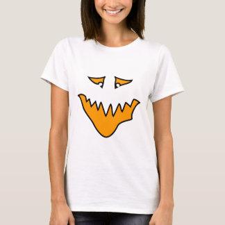 Scary Face. Orange Monster Grin. T-Shirt