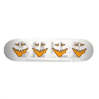 Scary Face. Orange Monster . Skateboard Deck