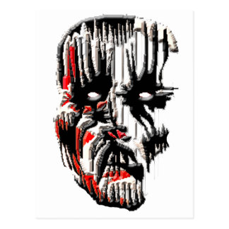 Scary Face Postcard