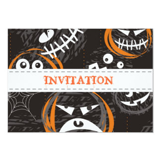 scary faces party invitation