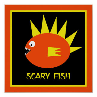 Scary Fish! Poster