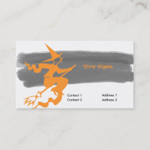 scary flying witch no2 business card