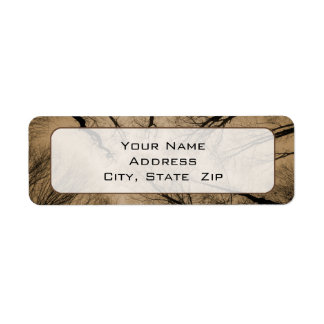 Scary Forest Custom Return Address Labels