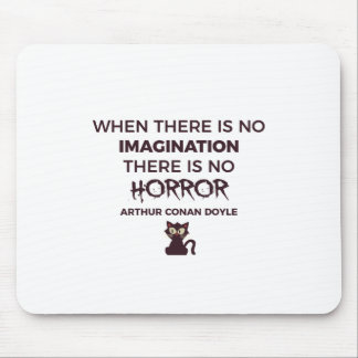 Scary Frightening Horror Halloween Design Mouse Pad