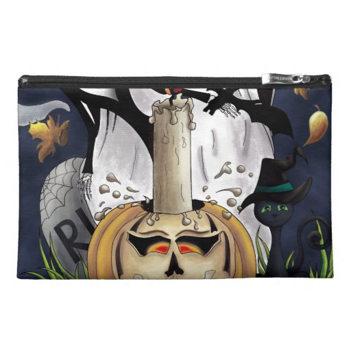 Scary Fun Halloween Creatures Travel Accessories Bags