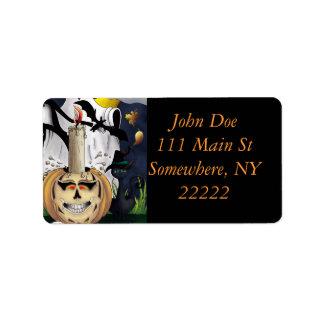 Scary Fun Halloween Creatures Address Label