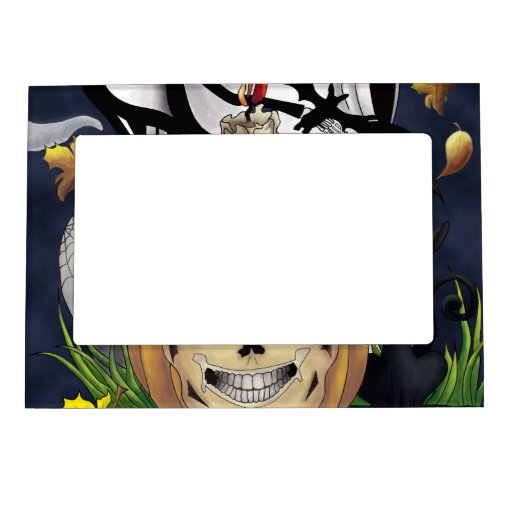 Scary Fun Halloween Creatures Magnetic Picture Frames
