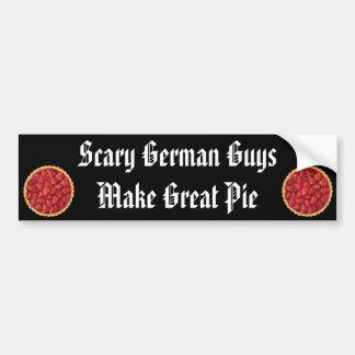 Scary German Guy Pies Bumper Sticker