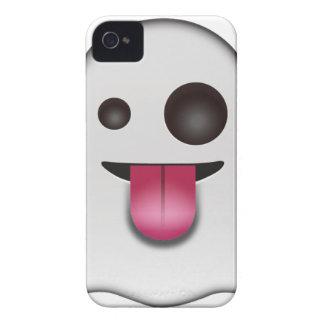 Scary Ghost Emoji Cool Fun iPhone 4 Case