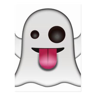 Scary Ghost Emoji Cool Fun Postcard