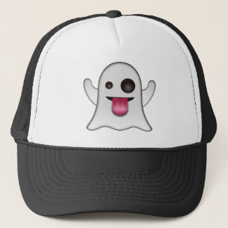 Scary Ghost Emoji Cool Fun Trucker Hat