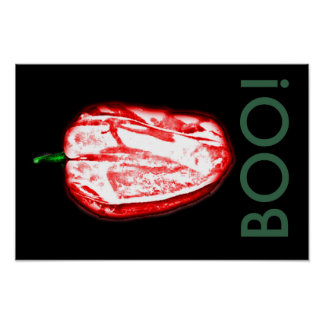 Scary Ghost Pepper Poster