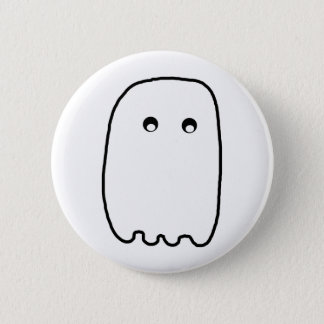 Scary Ghost Pinback Button