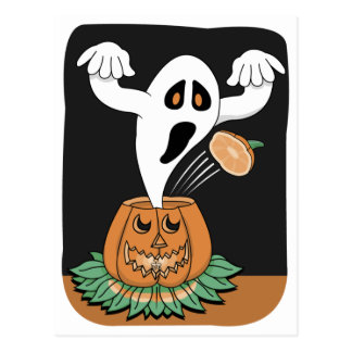 Scary Ghost Postcard