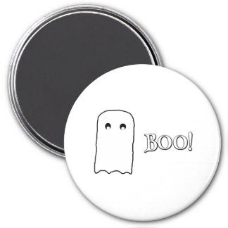 Scary Ghost saying Boo! Magnet