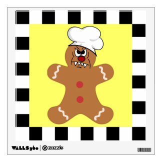 Scary Gingerbread Man Cookie Set Wall Decal