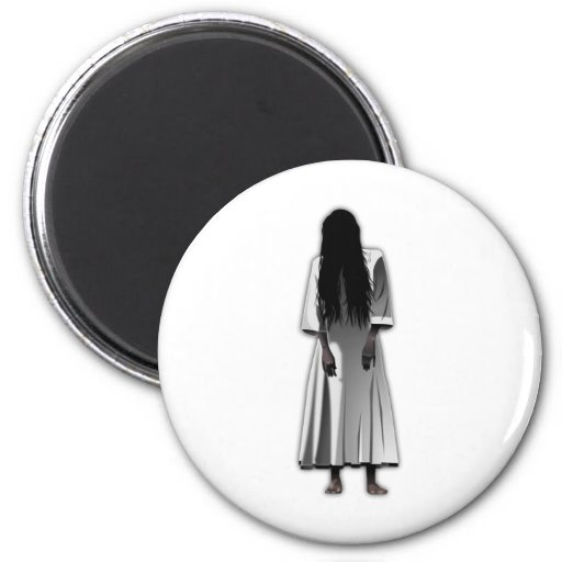 Scary Girl 2 Inch Round Magnet