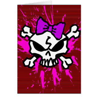 SCARY GIRL SKULL! CARD