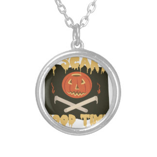 Scary Good Time Flag Silver Plated Necklace