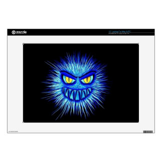 """Scary Gory Ghoulish Halloween Illustration 15"""" Laptop Decals"""