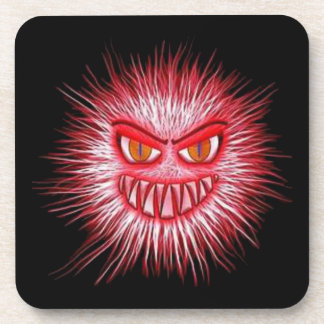 Scary Gory Ghoulish Halloween Illustration Beverage Coaster