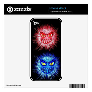 Scary Gory Ghoulish Halloween Illustration Decal For iPhone 4