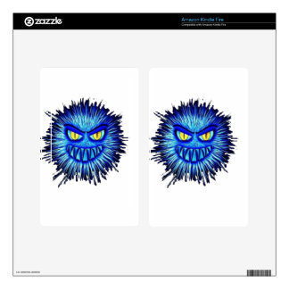 Scary Gory Ghoulish Halloween Illustration Kindle Fire Decal