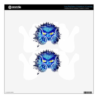 Scary Gory Ghoulish Halloween Illustration PS3 Controller Skins