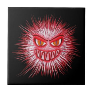 Scary Gory Ghoulish Halloween Illustration Tile