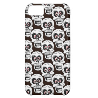 Scary Goth Halloween Skulls Case For iPhone 5C