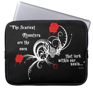 Scary Gothic Edgar Allen Poe Laptop Sleeve