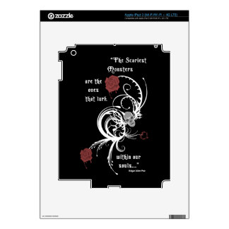 Scary Gothic Edgar Allen Poe Quote iPad 3 Skin