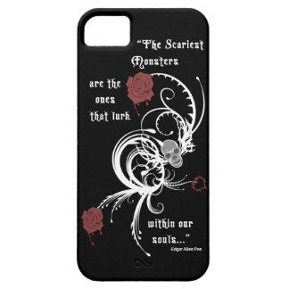 Scary Gothic Edgar Allen Poe Quote iPhone 5 Case