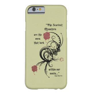 Scary Gothic Edgar Allen Poe Quote iPhone 6 case