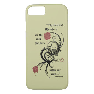 Scary Gothic Edgar Allen Poe Quote iPhone 7 case