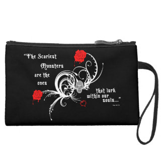 Scary Gothic Edgar Allen Poe Quote Mini Clutch