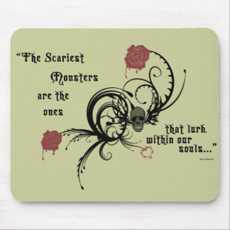 Scary Gothic Edgar Allen Poe Quote Mousepad