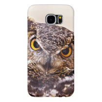 Scary Great Horned Owl Samsung Galaxy S6 Case
