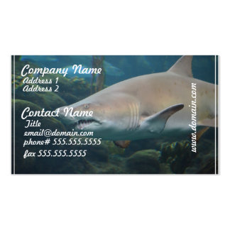 Scary Great White Shark Business Cards
