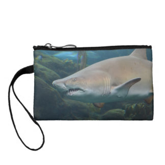 Scary Great White Shark Change Purses