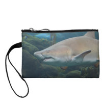 Scary Great White Shark Coin Purse