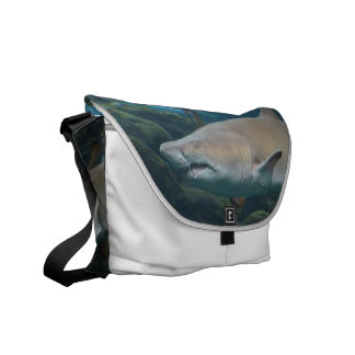Scary Great White Shark Courier Bag