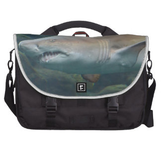 Scary Great White Shark Laptop Computer Bag