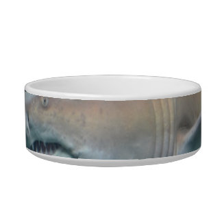 Scary Great White Shark Pet Food Bowls