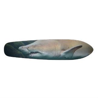 Scary Great White Shark Custom Skate Board
