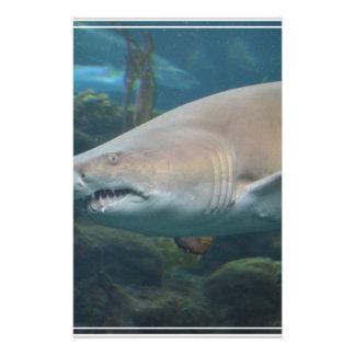 Scary Great White Shark Customized Stationery