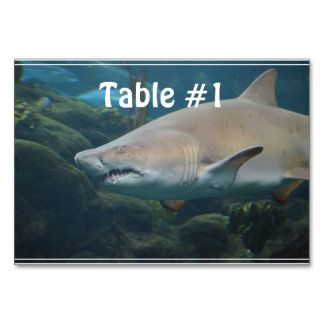 Scary Great White Shark Table Cards